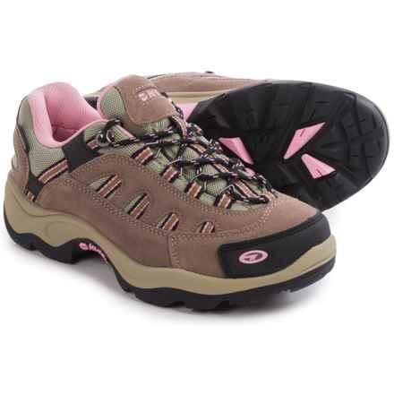 Hi-Tec Bandera Low Hiking Shoes - Waterproof, Suede (For Women) in Taupe/Blush - Closeouts