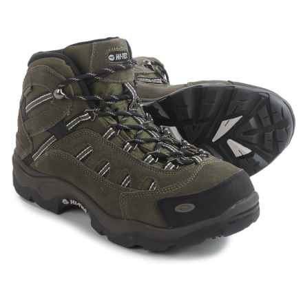 Hi-Tec Bandera Mid Hiking Boots - Waterproof (For Men) in Olive/Black/Snow - Closeouts