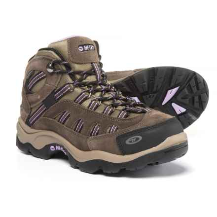 Hi-Tec Bandera Mid Hiking Boots - Waterproof (For Women) in Dark Taupe/Charcoal/Viola - Closeouts