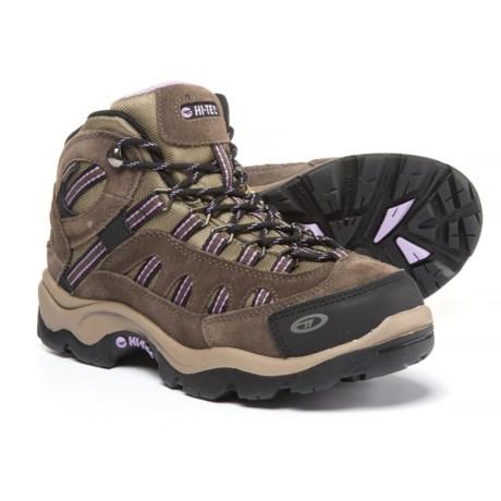 Hi-Tec Bandera Mid Hiking Boots - Waterproof (For Women) in Dark Taupe/Charcoal/Viola