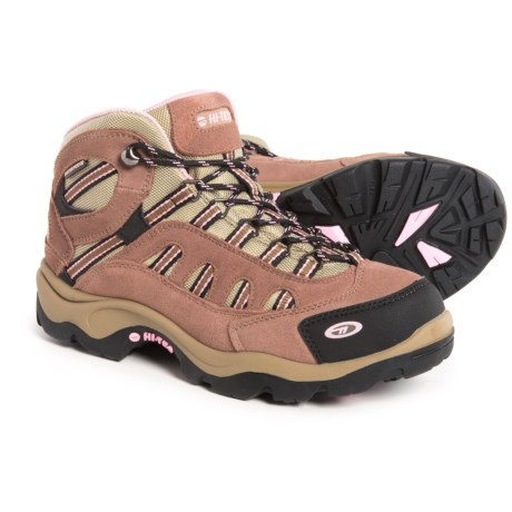 Hi-Tec Bandera Mid Hiking Boots - Waterproof (For Women) in Taupe/Blush