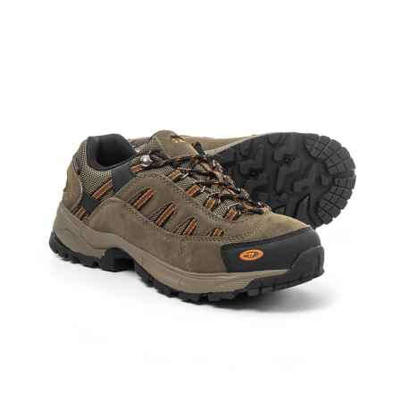 Hi-Tec Bandera Ultra Low Hiking Shoes - Waterproof (For Men) in Smokey Brown/Lt Taupe/Burnt Orange - Closeouts