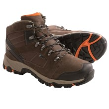 Hi-Tec Borah Peak I Hiking Boots - Waterproof (For Men) in Chocolate/Burnt Orange - Closeouts