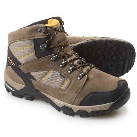 Hi-Tec Borah Peak Ultra Hiking Boots - Waterproof (For Men) in Dark Taupe/Light Taupe/Core Gold - Closeouts