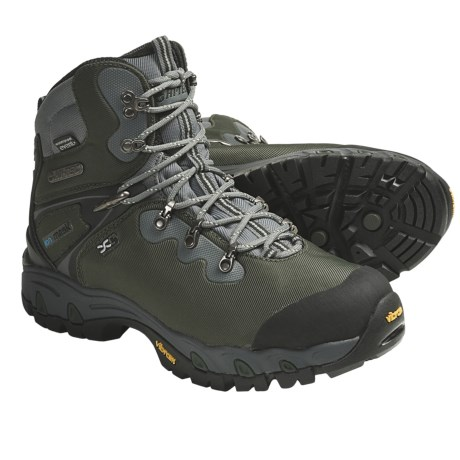 Hi-Tec Cascadia eVent® WPI Hiking Boots (For Men) in Dark Forest/Black/Graphite