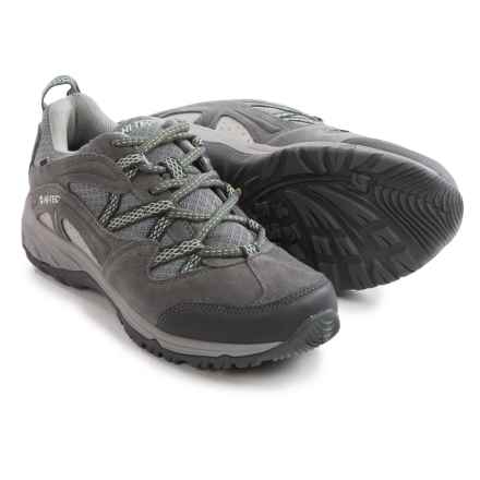 Hi-Tec Celcius Hiking Shoes - Waterproof, Suede (For Women) in Steel Grey/Grey/Lichen - Closeouts