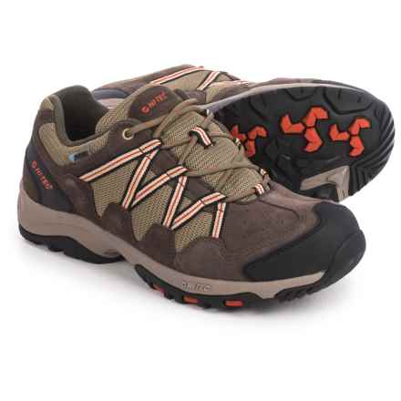 Hi-Tec Cimarron II Hiking Shoes - Waterproof (For Men) in Smokey Brown/Taupe/Orange - Closeouts