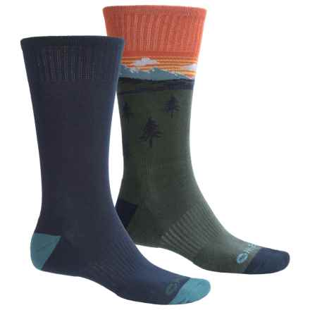 Hi-Tec Comfort Lifestyle Socks - 2-Pack, Crew (For Men) in Mountainscape - Closeouts