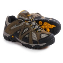 Hi-Tec Contra Low Hiking Shoes - Waterproof (For Men) in Dark Taupe/Gold - Closeouts