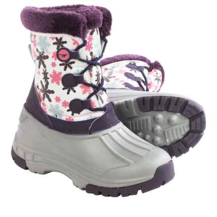 Hi-Tec Cornice Jr. Winter Pac Boots - Waterproof, Insulated (For Little Girls) in Beetroot/Silver/Pink - Closeouts