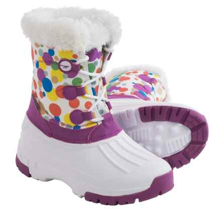 Hi-Tec Cornice Jr. Winter Pac Boots - Waterproof, Insulated (For Little Girls) in Multi Color Bubbles - Closeouts