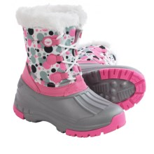 Hi-Tec Cornice Jr. Winter Pac Boots - Waterproof, Insulated (For Little Girls) in Pink/Grey Bubbles - Closeouts