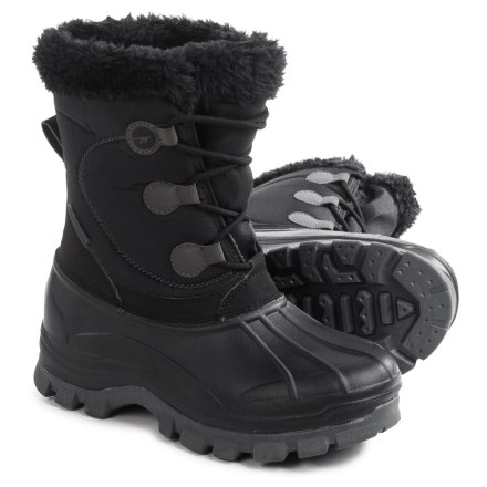 5e8a184bb0fc Hi-Tec Cornice Snow Boots - Insulated (For Women) in Black Grey
