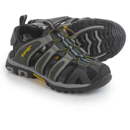 Hi-Tec Cove Sport Sandals (For Big Kids) in Black/Charcoal/Super Lemon - Closeouts