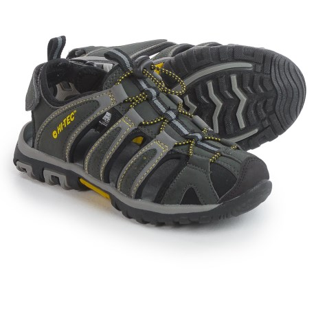 Hi-Tec Cove Sport Sandals (For Big Kids) in Black/Charcoal/Super Lemon