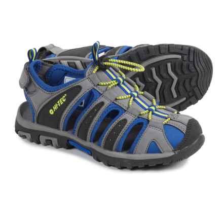 Hi-Tec Cove Sport Sandals (For Big Kids) in Grey/Cobalt/Limoncello - Closeouts