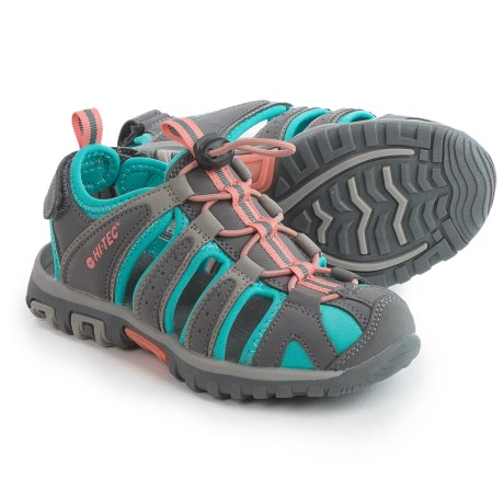 Hi-Tec Cove Sport Sandals (For Toddlers and Little Kids) in Cool Grey/Curacao Blue/Papaya Punch