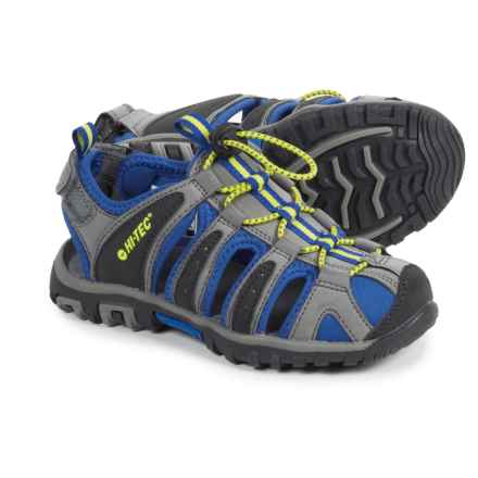 Hi-Tec Cove Sport Sandals (For Toddlers and Little Kids) in Grey/Cobalt/Limoncello - Closeouts