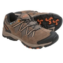 Hi-Tec Dexter Low WP Hiking Shoes - Waterproof (For Men) in Smokey Brown/Burnt Orange/Gunmetal - Closeouts