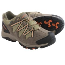 Hi-Tec Dexter Low WP Hiking Shoes - Waterproof (For Men) in Smokey Brown/Burnt Orange/Olive - Closeouts