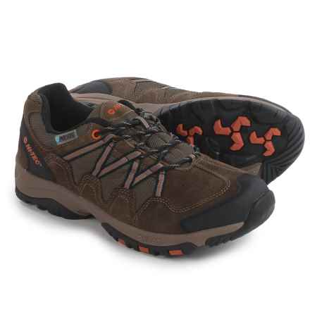 Hi-Tec Dexter Low WP Hiking Shoes - Waterproof (For Men) in Smokeybrown/Taupe/Burntorange - Closeouts