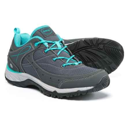 Hi-Tec Equilibrio Bijou Low Hiking Shoes (For Women) in Charcoal/Tile Blue - Closeouts