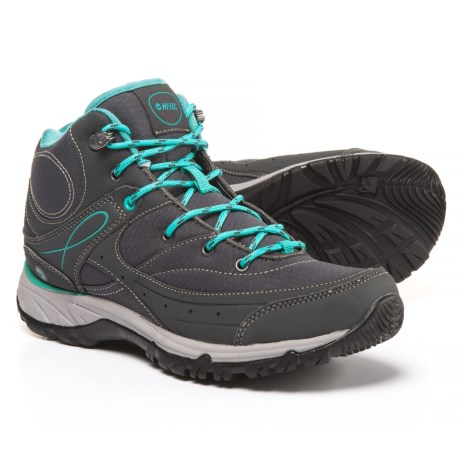 Hi-Tec Equilibrio Bijou Mid Hiking Boots (For Women) in Charcoal/Tile Blue