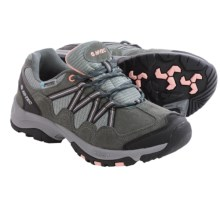 Hi-Tec Florence Low WP Hiking Shoes - Waterproof (For Women) in Charcoal/Blush - Closeouts