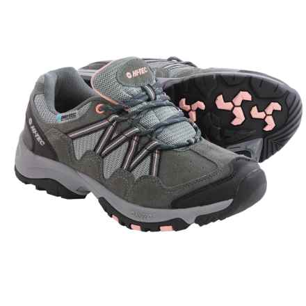 Hi-Tec Florence Low WP Hiking Shoes - Waterproof (For Women) in Charcoal Grey/Blush - Closeouts