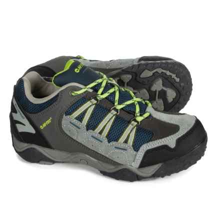 Hi-Tec Forza Low Hiking Shoes - Waterproof (For Big Kids) in Grey/Lime - Closeouts