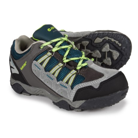 Hi-Tec Forza Low Hiking Shoes - Waterproof (For Toddlers and Little Kids) in Grey/Lime