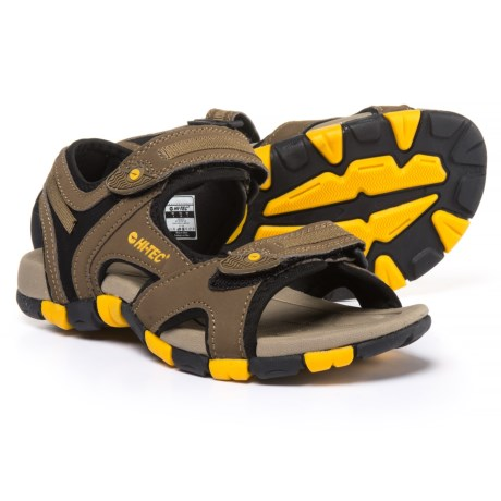 Hi-Tec GT Strap Jr. Sport Sandals (For Boys) in Smokey Brown/Taupe/Gold