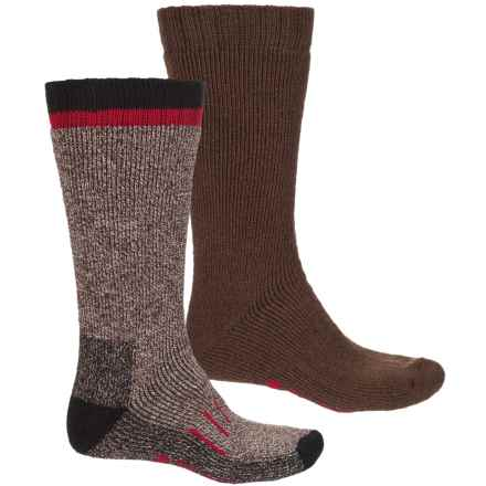 Hi-Tec Heavyweight Boot Socks - 2-Pack, Mid Calf (For Men) in Brown - Closeouts