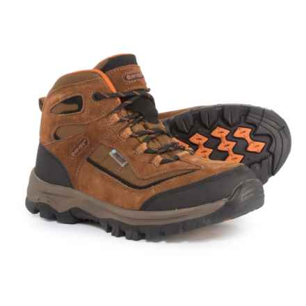 Hi-Tec Hillside Mid Hiking Boots - Waterproof (For Boys) in Brown - Closeouts
