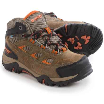 Hi-Tec Logan Hiking Boots - Waterproof (For Little and Big Kids) in Smokey Brown/Red Rock - Closeouts