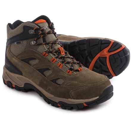 Hi-Tec Logan Hiking Boots - Waterproof (For Men) in Smokey Brown/Taupe/Red Rock - Closeouts