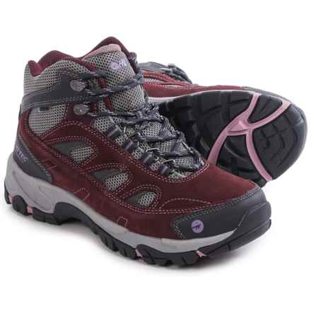 Hi-Tec Logan Mid Hiking Boots - Waterproof (For Women) in Plum/Cool Grey/Elderberry - Closeouts