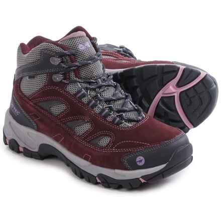 Hi-Tec Logan Mid Hiking Boots - Waterproof (For Women) in Plum/Cool Grey/Elderberry - Closeouts
