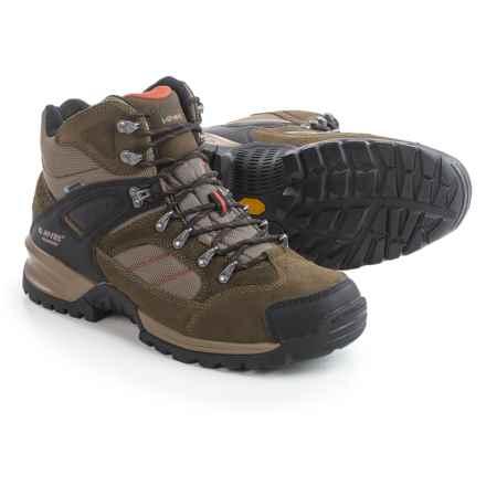 Hi-Tec Mount Diablo I Hiking Boots - Waterproof (For Men) in Smokey Brown/Red Rock - Closeouts