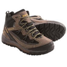 Hi-Tec Multiterra Trail Mid Hiking Boots - Waterproof (For Men) in Smoky Brown/Black/Chocolate/Core Gold - Closeouts