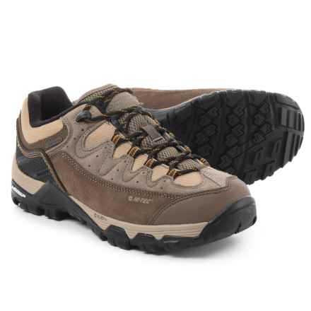 Hi-Tec Ox Belmont Low I Hiking Shoes - Waterproof (For Men) in Taupe/Brown/Core Gold - Closeouts