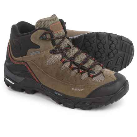 Hi-Tec Ox Belmont Mid I Hiking Boots - Waterproof, Suede (For Men) in Dark Taupe/Warm Grey/Redrock - Closeouts