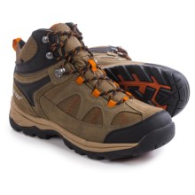 Hi-Tec Peak Lite Mid Hiking Boots - Waterproof (For Men) in Smokey Brown/Taupe/Red Rock - Closeouts