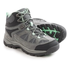 Hi-Tec Peak Lite Mid Hiking Boots - Waterproof (For Women) in Charcoal/Cool Grey/Lichen - Closeouts