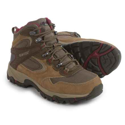 Hi-Tec Peak Lite Mid Hiking Boots - Waterproof (For Women) in Honey/Brown/Port - Closeouts