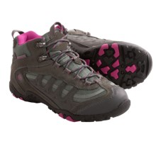 Hi-Tec Penrith Mid Hiking Boots - Waterproof (For Women) in Charcoal/Cyclamen - Closeouts