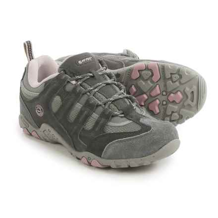 Hi-Tec Quadra Classic Hiking Shoes (For Women) in Cool Grey/Graphite/Violet Ice - Closeouts