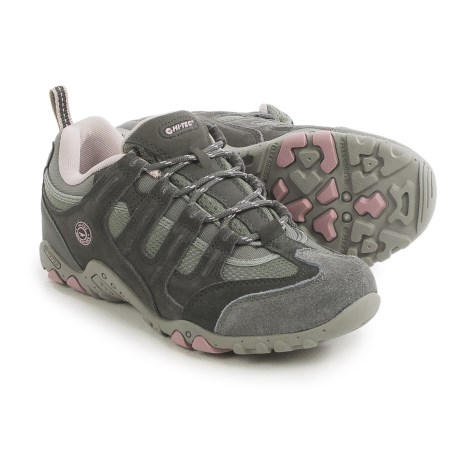 Hi-Tec Quadra Classic Hiking Shoes (For Women) in Cool Grey/Graphite/Violet Ice