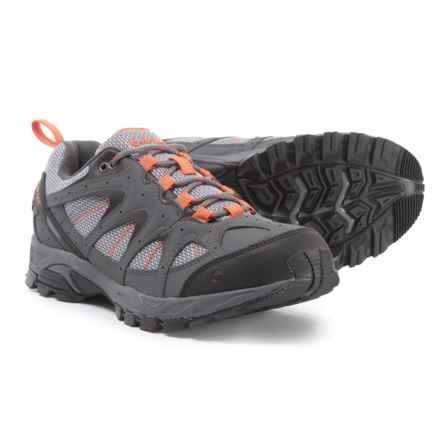 Hi-Tec Quixhill Hiking Shoes (For Men) in Graphite/Cool Grey/Burnt Orange - Closeouts