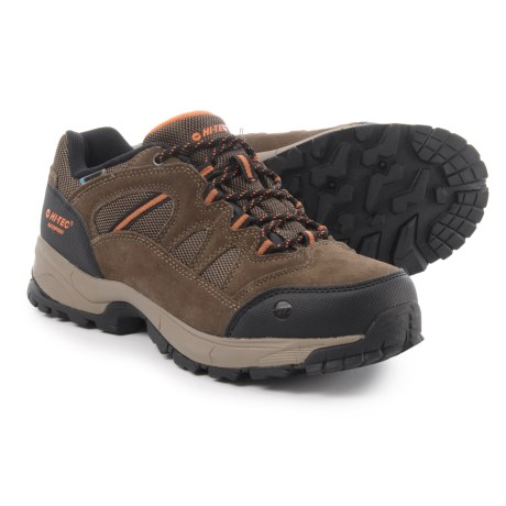 Hi-Tec Ridge Low Hiking Shoes - Waterproof (For Men) in Brown